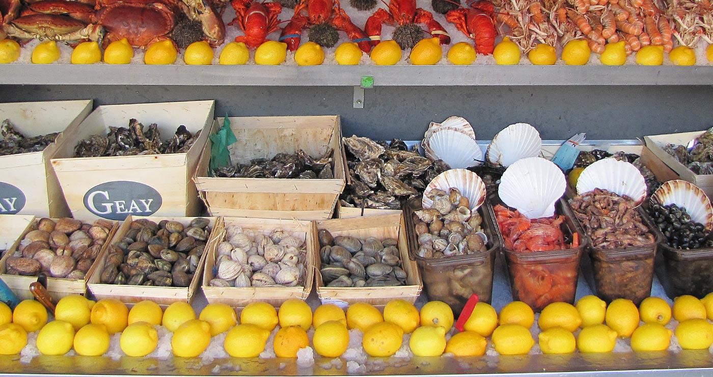 Étal de fruits de mer